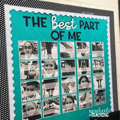 I love the way this BEST PART OF ME bulletin board warms our classroom. This mentor text and short writing assignment is a great way to build self-esteem and community in a classroom. Writing Bulletin Boards, Kindergarten Bulletin Boards, Back To School Bulletin Boards, Classroom Bulletin Boards, Classroom Door, Diversity Bulletin Board, 4th Grade Writing, Middle School Writing, Beginning Of School