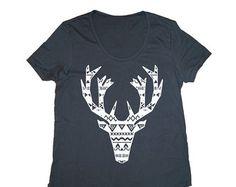 The Tribal Elk Adult Shirt, Christmas Shirt, Men's Christmas Shirt, Women's Christmas Shirt, Rad Adult Tee, Christmas Shirt, Unisex t-shirt