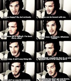 I love him so much. Because even though PewDiePie is really funny, he can still be able to talk about these types of things during gameplays and have an impact on 22 million people's lives.