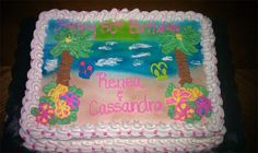 beach birthday cake - Google Search Cupcakes Design, 13 Birthday Cake, 13th Birthday, Cookie Pie, Decorated Cakes, Cupcake Cakes, Cake Decorating, Cookies, Google Search
