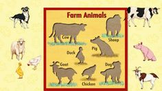 This is called farm animals. first cut out all of the animals. Then ask your kid or kids to place them where they go.
