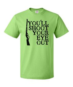 Key Lime 'You'll Shoot Your Eye Out' Tee - Adult