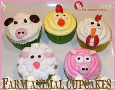 """What's more fun than making farm animal cupcakes? My daughters spent the week in summer theater camp preparing for the musical production, """"E-..."""