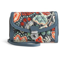 Vera Bradley Ultimate Wristlet in Nomadic Floral with Gray (1.205.145 VND) ❤ liked on Polyvore featuring bags, handbags, clutches, nomadic floral with gray, grey handbags, wristlet purse, floral wristlet, floral handbags and wristlet handbags
