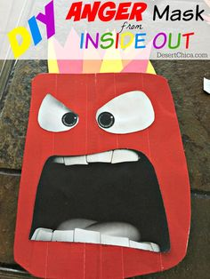 DIY Anger Mask from Inside Out Costume