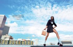 """""""Rooftop"""" - Hunger SS 2013. Photography: Rankin / Stylist: Way Perry / Model: Chanel Iman"""