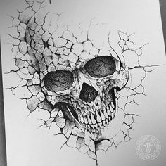 dead inside graphics Developing one of old concepts that I have had no chance to finish so far still lots of work to do here but that s mostly balancing things art artwork graphic design illustration drawing inktober skull concrete stone # Tattoo Design Drawings, Skull Tattoo Design, Skull Design, Skull Tattoos, Tattoo Designs, Head Tattoos, Dark Art Drawings, Drawing Sketches, Sketch Art