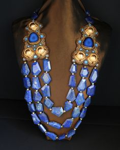 Lapis 3 Strand Necklace
