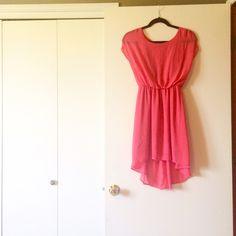 Pink Dress Pink high-low dress - size small Lush Dresses
