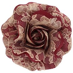 Women's+Maroon+Rose+with+Champagne+Lace+[Maroon+Rose+with+Champagne+Lace]+-+$19.95+:+Sara+Monica,+Sara+Monica+Flowers