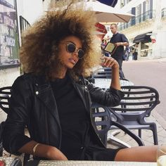 Short Kinky Curly Wig Real Human Hair Afro Curly Wigs Natural Looking For Women Kinky Curly Wigs, Human Hair Wigs, Dreads, Tina Kunakey, Curly Hair Styles, Natural Hair Styles, Natural Hair Inspiration, Afro Hairstyles, Big Hair