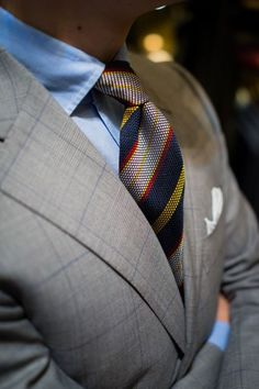 Random Inspiration 194 - UltraLinx  The tie colour matches nicely the suit gray