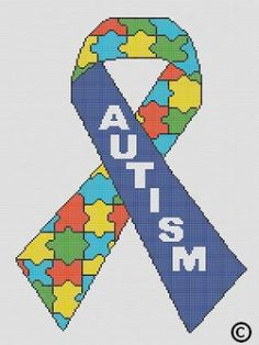 CROCHET PATTERNS AUTISM AWARENESS RIBBON AFGHAN GRAPH E-MAILED.PDF