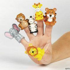12 ZOO ANIMAL FINGER PUPPETS/Safari Jungle/Birthday Party Decoration/Favor