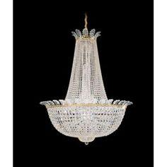 Schonbek Roman 44 Light Empire Chandelier Finish: Polished Silver, Crystal Color: Swarovski Spectra