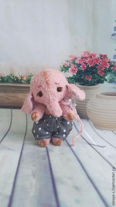 Мишки Тедди ручной работы. Ярмарка Мастеров - ручная работа. Купить Джаспер.... Handmade. Бледно-розовый, ручная работа