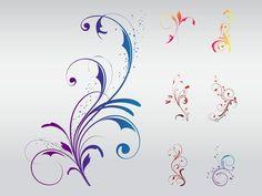 Flower Swirl Design | Swirly Floral Designs