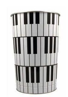 Piano keyboard wastepaper bin