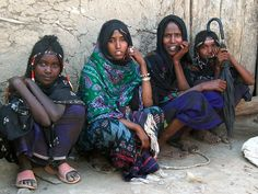Afar nomad girls - Ethiopia My 4 Sister Wives