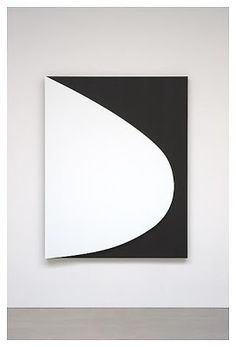 "Ellsworth Kelly, ""White Curve Relief,"" 2010, oil on canvas, two joined panels, 75 1/4 x 58 3/4"""