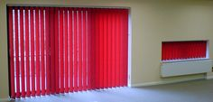 Vertical window blinds for schools and commercial applications. www.blindology.co.uk/vertical.asp Vertical Window Blinds, Blinds For Windows, Schools, Commercial, Curtains, Home Decor, Shades For Windows, Blinds, Decoration Home
