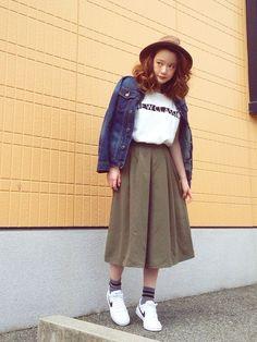 SHIHOさんのデニムジャケット「ZARA KIDS 」を使ったコーディネート