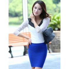 Thick Fold Tight-fitting Skirt costumes,ideas for christmas costumes,costume direct Womens Trendy Tops, Casual Tops For Women, Short Skirts, Mini Skirts, Fashion Boutique, Dress To Impress, Dresses Online, Tights, Womens Fashion