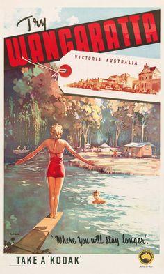 Vintage Poster Love - Wangaratta by James Northfield - http://www.australianvintageposters.com.au/shop/wangaratta-by-james-northfield/
