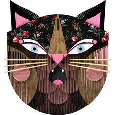 Give a feline touch to your wall with this cat mask. Collect the exclusive designs in this collection, and have fun with this experience of creating, Puzzle, Rubber Rings, Cat Mask, Take You Home, Friend Wedding, Interiores Design, Creative Art, Interior Inspiration, Have Fun