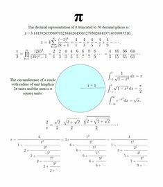 Pi facts - remember these on 'Pi Day' March 14th :) (3/14)