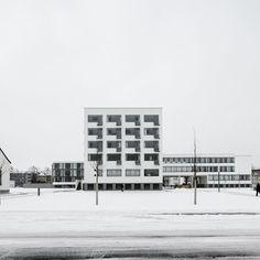 Walter Gropius, Bauhaus, Dessau. Germany 1925-1926 | Photos by Carlos Castro ( Source: architecturepastebook.co.uk )