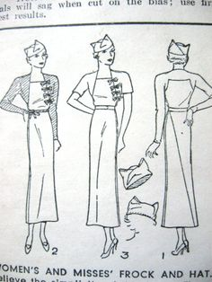 Early 1930s sewing pattern by Pictorial Pattern 6969  by Fancywork, $48.00