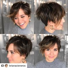 #Repost @brianacisneros with @repostapp ・・・ The one thing I love more than having a pixie is cutting them!! Thank you @nichole_potter for coming to visit me for a chop session! ❤️ #hairbybrianacisneros #cheveuxoholic