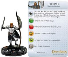 lord of the rings heroclix 035 boromir - Google Search
