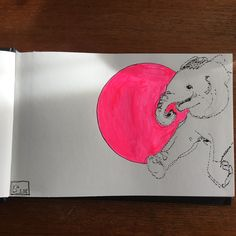 #Inktober 1. Okt. 'Elefant'