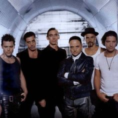 Richard Kruspe (lead guitar), Till Lindemann (vocals), Flake Lorenz (keyboards), Paul Landers (rhythm guitar), Oliver Riedel (bass) and Christoph Schneider (drums) - these are the men of Rammstein