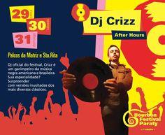 Conheça a Programação do Bourbon Jazz Festival 2015.  Dj Crizz  Dj oficial do festival, Crizz é um garimpeiro da música negra americana e brasileira. Sua especialidade? Surpreender com versões inusitadas dos mais diversos clássicos.  #BourbonFestivalParaty #BourbonFestival #bourbonParaty #bourbon #FestivalDeMusica #FestivalDeJazz #Música #show #jazz #soul #funk #rb #festival #turismo #cultura #arte #TurismoParaty #Paraty #PousadaDoCareca #DjCrizz