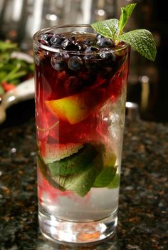 Summer Blueberry Mojito