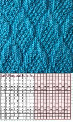 Узоры вязание спицами схемы Шишки