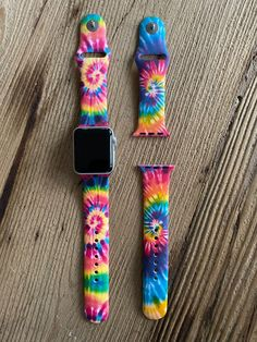 Apple Watch Discover Fitbit Versa Classic Watch Band Small Large Tie Dye Pattern Gift For Her Tye Die Cute Apple Watch Bands, Apple Watch Bands Fashion, Apple Watch Faces, Disney Apple Watch Band, Apple Watch Silicone Band, Nintendo Switch, Design Apple Watch, Apple Watch Accessories, Iphone Accessories
