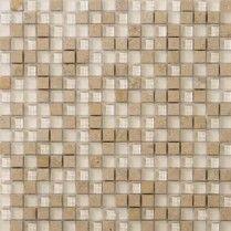 "Emser Tile & Natural Stone: Ceramic and Porcelain Tiles, Mosaics, Glass Tiles, Natural Stone: Lucente Stone Blends Mosaic Stone Blends 5/8""x 5/8"" On 12""x12"" Mesh , Lido"