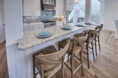 Breakfast bar and rustic bar stools