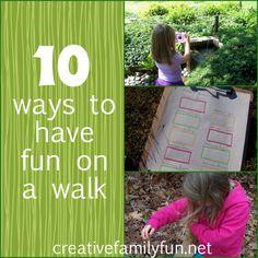 10 Ways To Make a Walk More Fun ~ Creative Family Fun