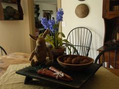 A Primitive Place ~ Colonial & Primitive Inspired Spring Decorating