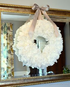 Coffee filter wreath  Cheap and easy