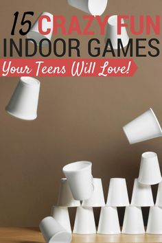 These indoor games for teens are perfect for entertaining a group of teenagers! Better yet, you probably have most of the materials on hand already. activities for teens 15 Crazy Fun Indoor Games for Teens Birthday Party For Teens, Sleepover Party, Teenage Birthday Party Games, Fun Teen Party Games, Games For Parties Teens, Teen Boy Party, Dinner Party Games, Teenage Parties, Teen Fun