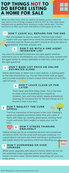 Top things not to do before listing home for sale