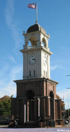 Downtown Clock Tower at Pogonip Park, Santa Cruz, California Clock Town, Santa Cruz California, World Cities, Architecture Details, Compass, Clocks, Germany, Around The Worlds, Park