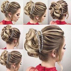 The Low Chignon is a smooth bridal hair messy bun which appears incredibly wonderful on bridesmaid as well. Wedding Tiara Hairstyles, Homecoming Hairstyles, Trendy Hairstyles, Girl Hairstyles, Special Occasion Hairstyles, Hair Pieces, Bridal Hair, Hair Inspiration, Marie