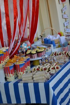 boy's first circus birthday party ideas www.spaceshipsandlaserbeams.com